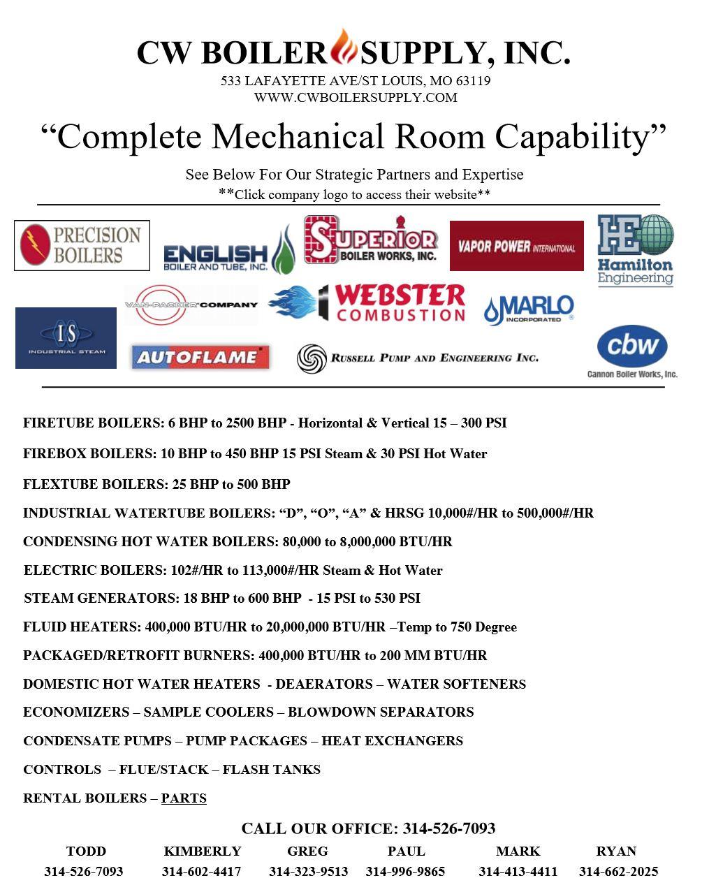 Mechanical room capability
